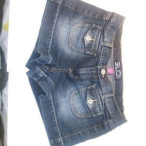 Glo Denim dark short shorts size 11